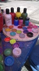 Art supplies for community celebration